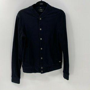 Hugo Boss slim fit mercerised snap front jacket S
